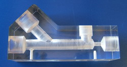 Acrylic valve body machined to the highest quality